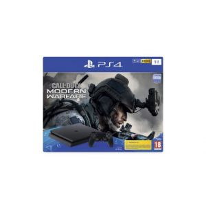 Sony PS4 Slim 1 To F + Call Of Duty Modern Warfare IV - noir