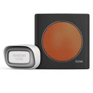 Extel Carillon sans fil avec portée de 200m et 6 sonneries au choix diBi Flash Soft - Orange