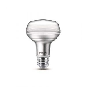Philips lighting 8718696813256 LED R80 Verre 8-100W E27 WW 40D 1BC/4, 8 W, Argent