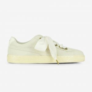 Puma Baskets basses suede heart satin beige 37
