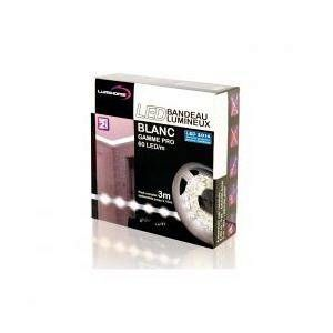Lumihome DEC_SETPRO-3W KIT COMPLET STRIP BLANC FROID 3M - 180 LED/M - 12V - IP65