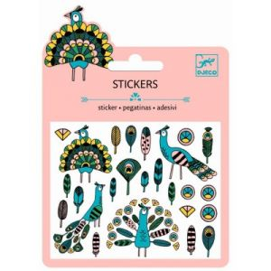 Djeco Minis stickers Plumes et Paons