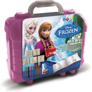 Multiprint Disney Frozen porte-documents avec 5 timbres et activites