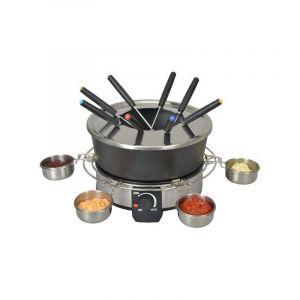Kitchen Chef Service à fondue KSFD07 1000 W Argent et Noir