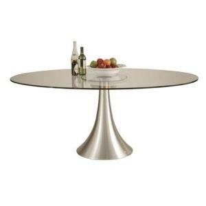 Kare Design Table à manger design ovale Loft en alu et MDF (120 x 180 cm)