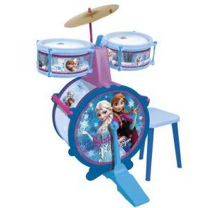 Reig Musicales Batterie La Reine des neiges (Grosse caisse, bongo, cymbale, pedale grosse caisse et baguettes)