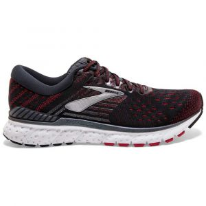 Brooks Chaussures running Transcend 6 - Black / Ebony / Red - Taille EU 45 1/2