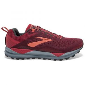 Brooks Chaussure trail running Cascadia 14 - Rumba Red / Teaberry / Coral - Taille EU 40 1/2