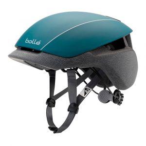 Bollé Messenger Standard - Casque de cyclisme taille 51-54 cm, gris/noir/turquoise