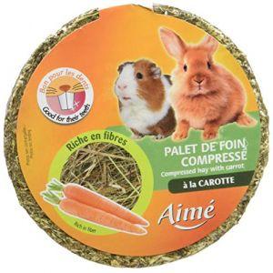 Aimé Palet foin compressé à la carotte pour lapin et rongeur - 240g