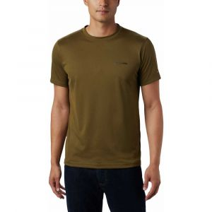Columbia Zero Rules Chemise manches courtes Homme, new olive S T-shirts techniques