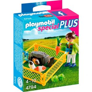 Playmobil 4794 Special Plus - Fillette avec cochons d'inde