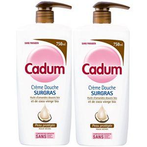 Cadum Crème Douche Surgras à l'Huile d'Amandes Douces Bio et De Coco Bio Vierge - 750 ml