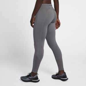 Nike Tight de running taille mi-basse Racer Femme - Gris - Taille L