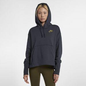 Nike Sweat à capuche en tissu Fleece Sportswear pour Femme - Bleu - Taille M