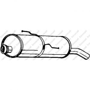 Bosal Silencieux arrière 190-355