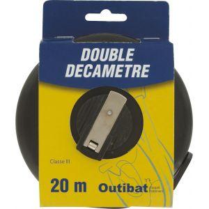 Outibat Mesure decamètre ruban fibre Double décamètre
