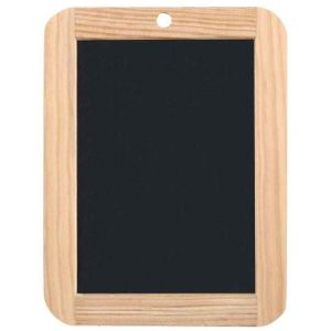 JPC CRÉATIONS Ardoise naturelle 18 x 26 cm cadre bois