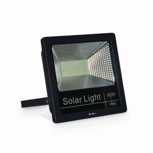 Alice's Garden Projecteur solaire LED 40W avec panneau solaire télécommandé blanc chaud, lampe résistante à la pluie et autonome