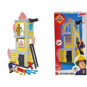 Dickie Toys Sam le pompier : grande tour d'entraînement avec figurine