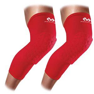 McDavid Hex Leg Sleeves/pair - Scarlet - Taille S