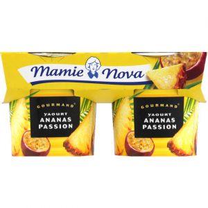 Mamie nova Yaourts sucrés ananas passion - Les 2 pots de 150g
