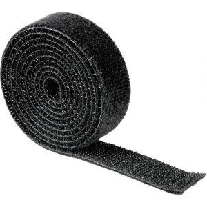 Hama Serre-câbles autoadhésif 00020543 (L x l) 1000 mm x 19 mm 1 pc(s) noir
