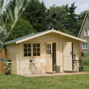 Outdoor Life Products Eauze - Abri de jardin en bois 28 mm 12,8 m2