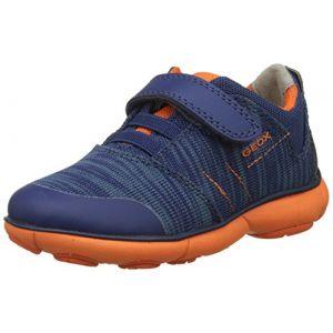 Geox Nebula A, Sneakers Basses Garçon, Bleu (Navy/Orange), 38 EU