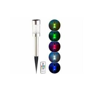 Lunartec Borne solaire à LED RVB télécommandée