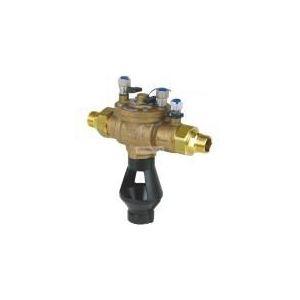 Socla 149B3082 - Disconnecteur antipollution à zone de pression réduite contrôlable BA2760 mâle-mâle dn : 25 bronze