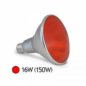 Vision-El Ampoule LED 16W (150W) E27 PAR38 IP65 Couleur Rouge