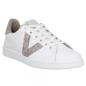 Victoria Tenis Piel/Glitter, Baskets Mixte Adulte, Rose