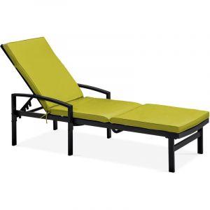 Solys Coussin pour bain de soleil - Vert