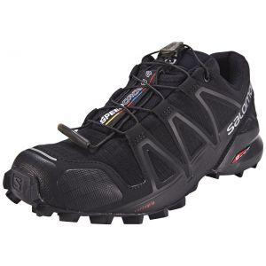 Salomon Femme Speedcross 4 Chaussures de Trail Running, Noir (Black/Black/Black Metallic), Taille: 38 2/3