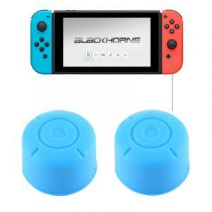 Nintendo Pour Switch Game Bouton Bleu Silicone Caps Housse De Protection 2 Pcs