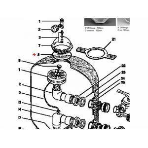 """Procopi 422040 - Joint de couvercle 8""""1/2 de filtre Triton (210 x 4,6 mm)"""