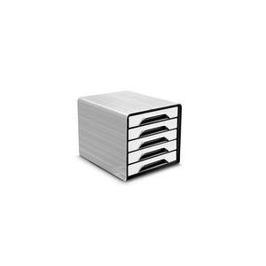 CEP Office Solutions Smoove Bloc de classement 5 tiroirs Blanc/Noir