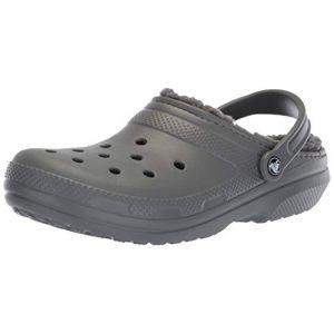 Crocs Classic Lined Clog, Sabots Mixte Adulte, Gris (Slate Grey/smoke) 38/39 EU