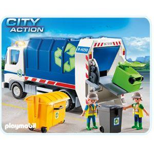 Playmobil 4129 City Action - Camion de recyclage avec lumières