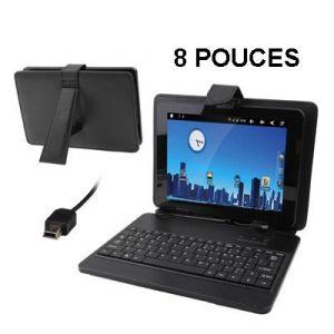 """Yonis Housse clavier universelle tablette tactile 8"""" support étui"""
