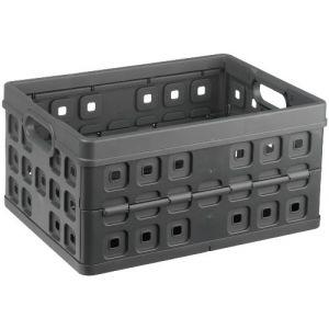 Sunware 100725087 - Caisse pliante 32L, sans anse, plastique anthracite