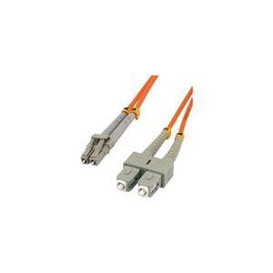 MCL Samar FJOM1/SCLC-1M - Jarretière optique OM1 duplex multimode 62.5/125 - SC / LC 1m