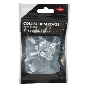 Cogex Collier de serrage acier zingue - ø 13 a 23 mm - 8 pcs