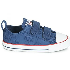 Converse Chaussures enfant CHUCK TAYLOR ALL STAR 2V BROADERIE ANGLIAS OX bleu - Taille 22,23,24,25,26