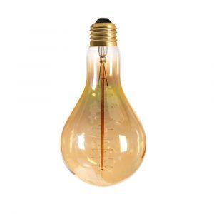 Ampoule filament spirale ambre E27 globe ø110 mm 40W blanc chaud