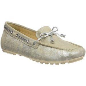 Geox D Leelyan A, Mocassins (Loafers) Femme, Argent (Silver), 39 EU