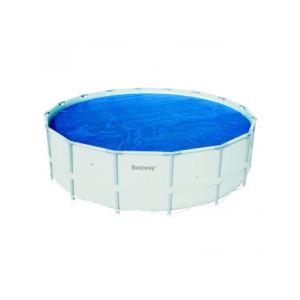 Bestway 58172 - Bâche solaire en PVC Ø 440 cm pour piscine tubulaire ronde Ø 457 cm
