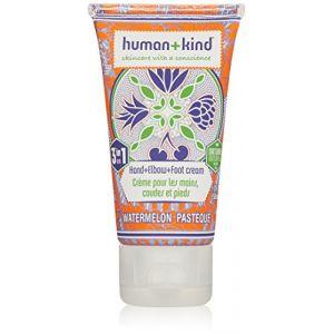 Human+kind Crème pour les mains, coudes, pieds à la pastèque