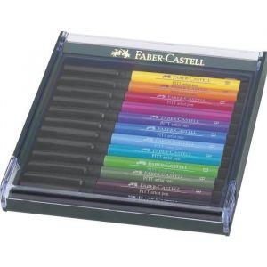 Faber-Castell Kit de 12 feutres Pitt Artist Pen Brush Basic
